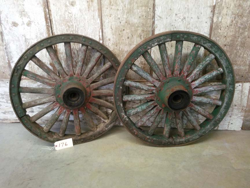 176 Vintage Antique Heavy Duty Wagon Wheels - $495 pair