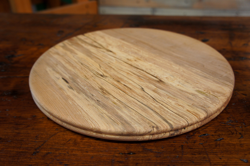ACC-2165 Hand Turned Spalted Maple Cutting Board ~ $70