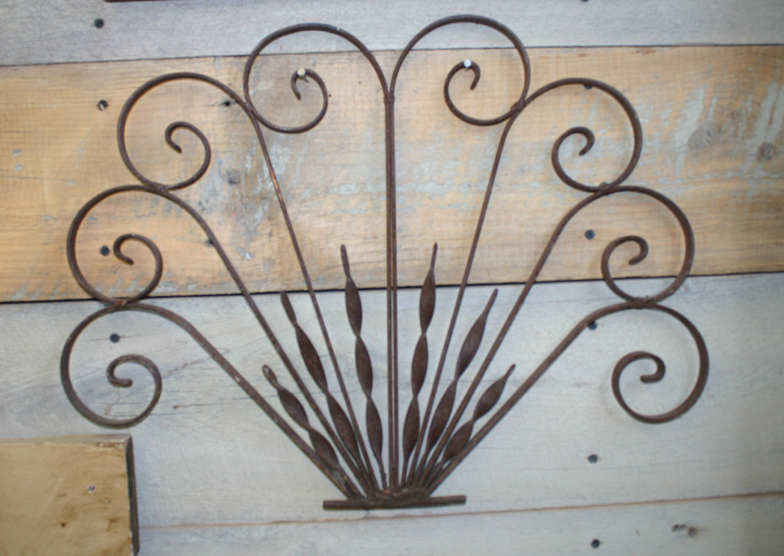 ACC-2180 Metal Scroll Architectural Fragment ~ $65