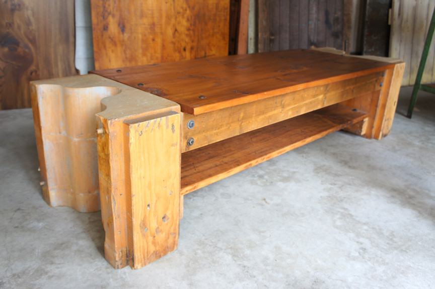 BN-09 RUSTIC BENCH WITH FOUNDRY MOLD ENDS ~ $795