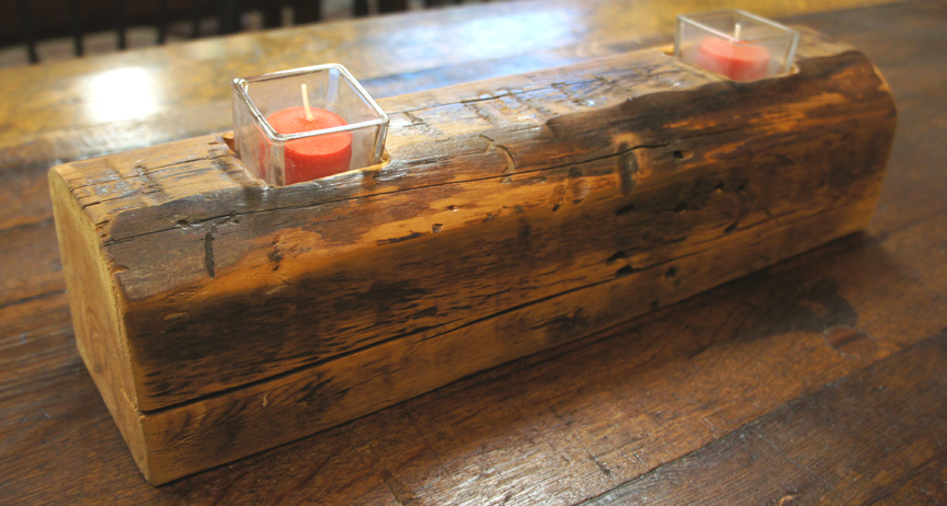 CA-001 Antique Pine Beam 2 Tea Light