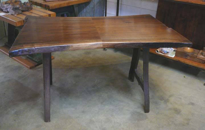 DK-11 Black Walnut Desk with Factory Machine Legs