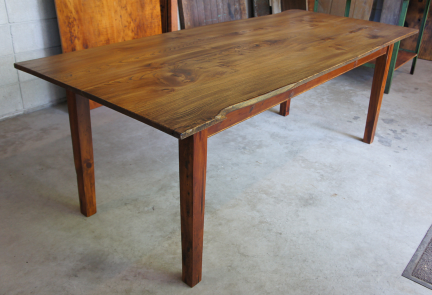 DT-73 Live Edge Elm Table ~ $2995