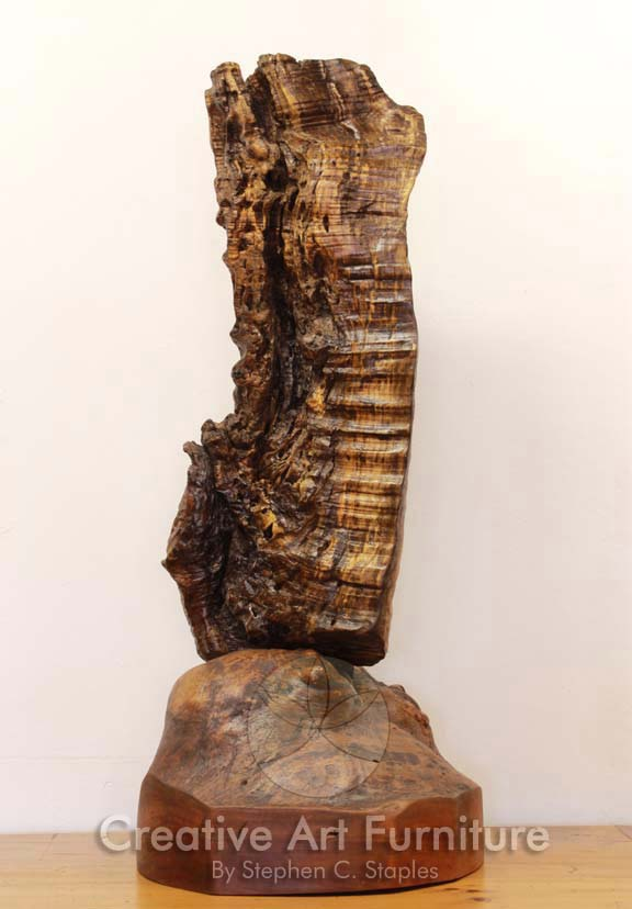#SSA-0406 Tiger Maple and Cherry Burl Sculpture