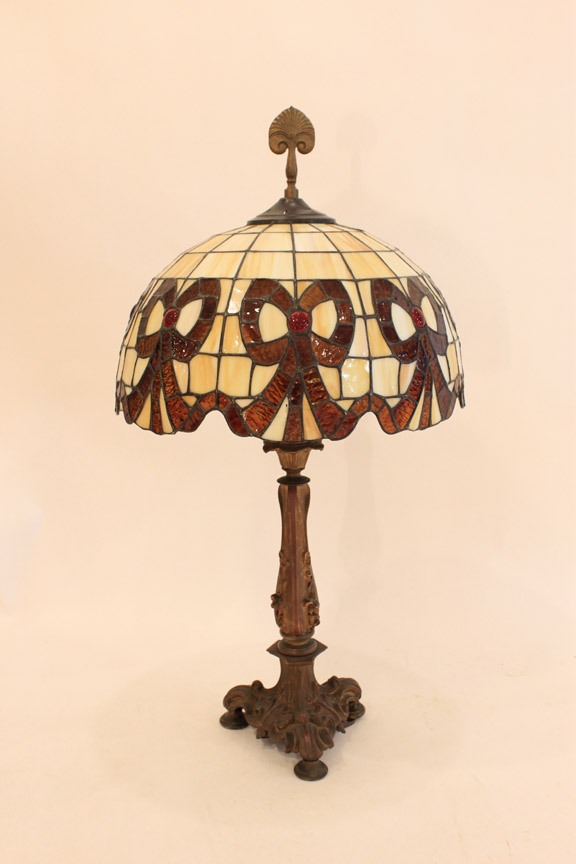 LT-31 Stained Glass Lamp Circa 1940's ~ $195