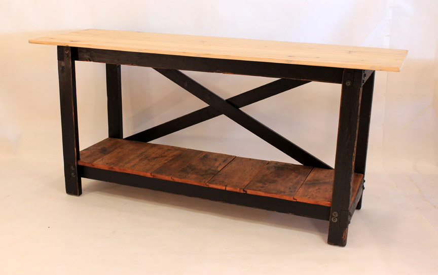 IS-35 Workbench Island w/Pine Top and Shelf ~ $1295