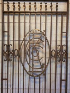 213 Vintage Steel Gates Doors - closeup 1
