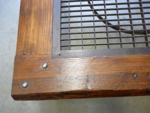 CT-47 Grate and Chestnut Coffee Table - closeup