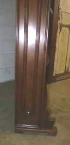 SH-08 Black Walnut Bookcase - bottom side